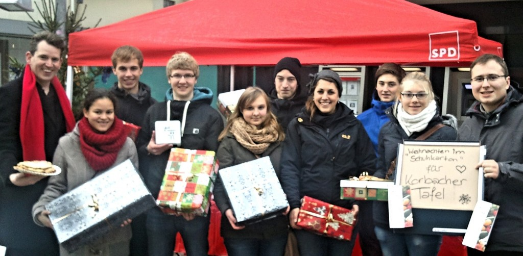 Weihnachtsgeschenk-Aktion der Jusos Korbach voller Erfolg